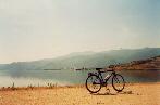 Lake Kerkini in spring in Greece, near the Bulgarian border
